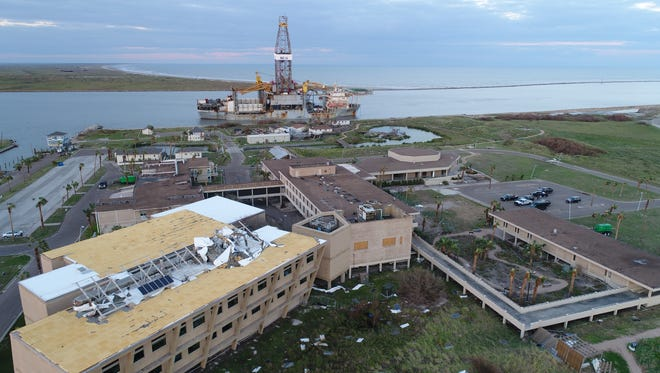 Nearly all structures on the 72-acre University of Texas Marine Science Institute in Port Aransas were damaged or destroyed by Hurricane Harvey.