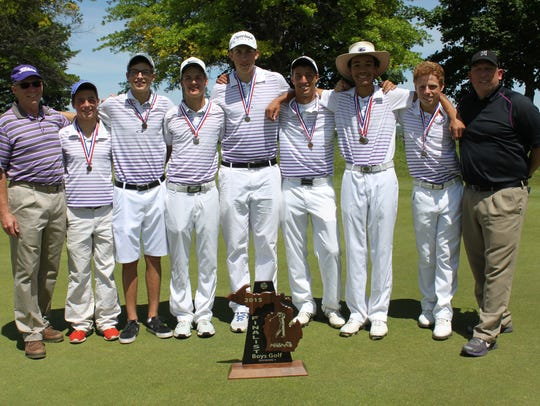 The Lakeview golf team finished second at the Division