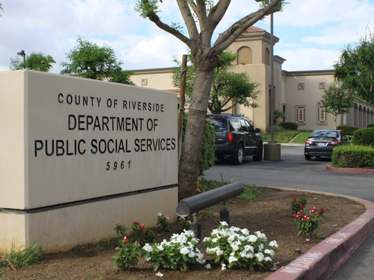 The entrance to a Riverside County Department of Public