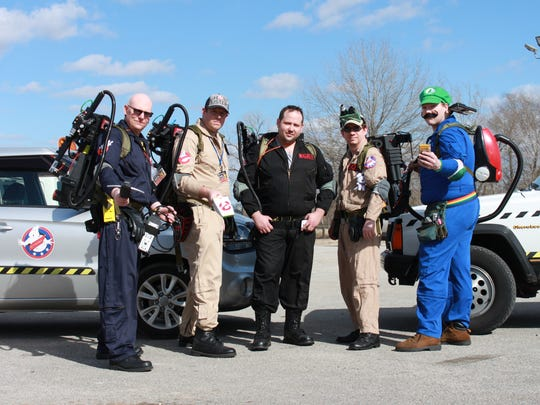 Members of the Tennessee Ghostbusters wore full costumes Sunday at the Southern Fried Pop Culture and Comic Con.