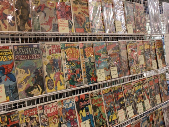 Vendors sold comic books, bobble heads and more Sunday
