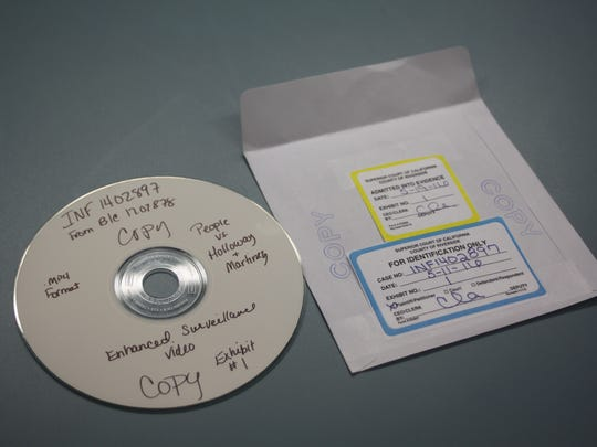 A DVD of security footage obtained by The Desert Sun from the Riverside County Superior Court