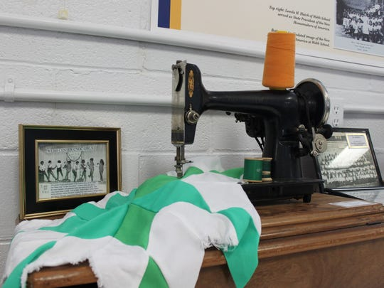 A sewing machine from a Webb High School home economics class is one piece of memorabilia in the new Webb Historical Museum in McKenzie.