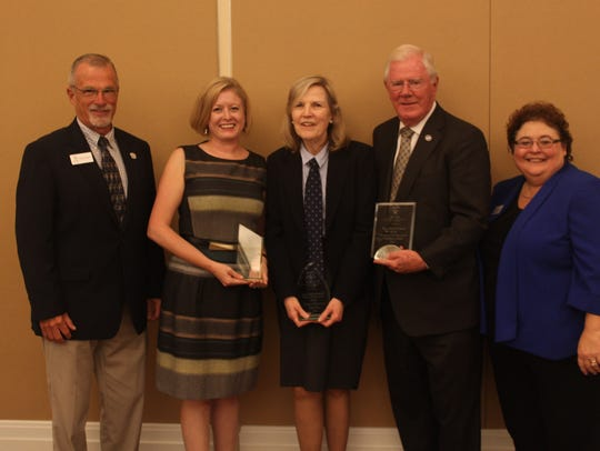 Meagan Frazier, second from the left, Department of