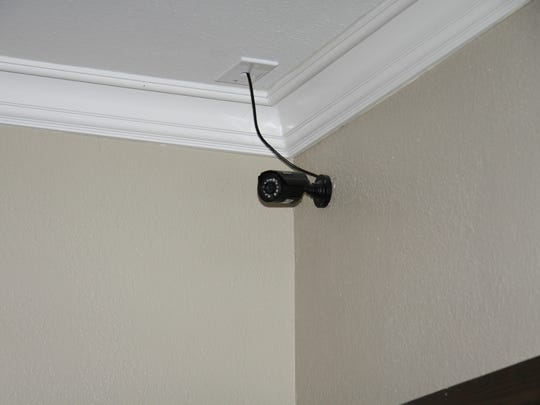 A camera found in the home of Rebekah Mellon and her husband Donald Mellon. Phoenix police said the shooting of Donald Mellon by his wife was captured by the surveillance system on July 31, 2012.