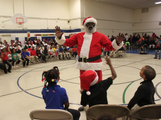 Santa Claus made an appearance at Lincoln Elementary School during its Christmas Celebration Thursday.