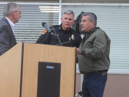 Pictured: Dale Janway, Chief Kent Waller and A.C. Rodriguez.