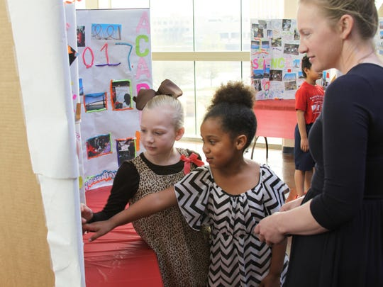 Gracyn Broome, a second-grader at North Caddo Elementary,