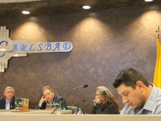 Carlsbad city councilors discuss city business during