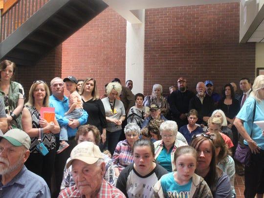 Hundreds of La Huerta residents attend an Eddy County