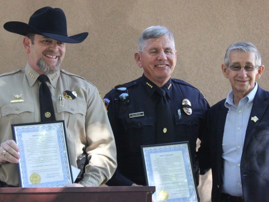 (L to R) Eddy County Sheriff Mark Cage, Carlsbad Police