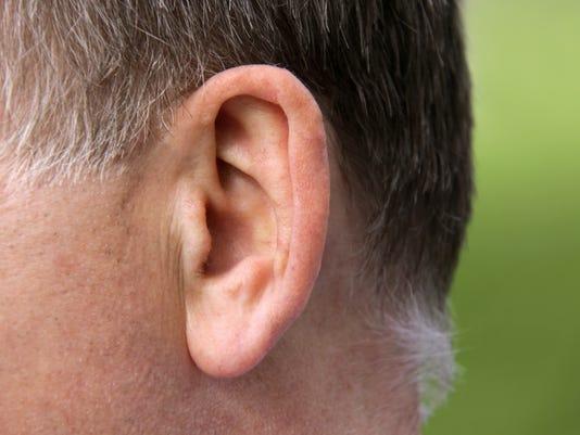 Male ear close up