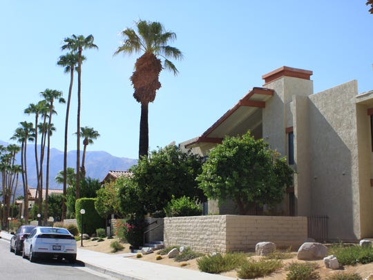 An apartment complex off Sunrise Way in Palm Springs