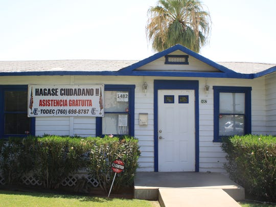 TODEC Legal Center in Coachella helps immigrants apply for DACA status, as well as helping with the naturalization process.