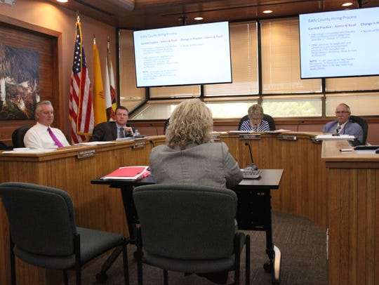Eddy County commissioners discuss county business during