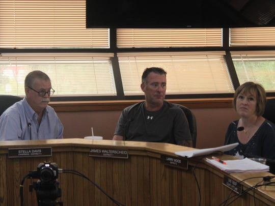 Members of the Eddy County Planning and Development Advisory Committee discuss county business, Oct. 5 at the Eddy County Administration Complex.
