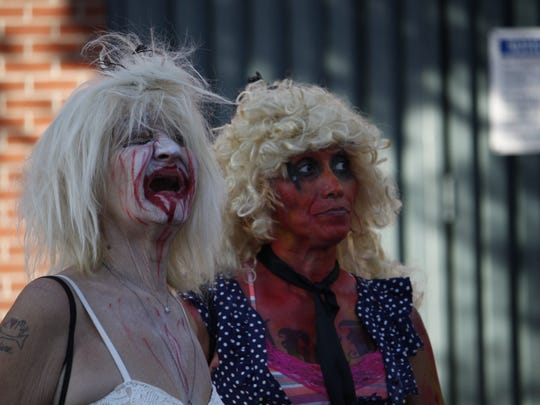A couple of zombies enjoying live music at the Phoenix
