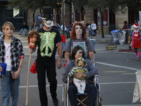 Even in a wheelchair, this family attended the Zombie