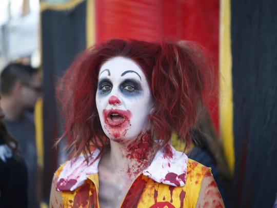 Many people that attended the Zombie Walk showed off