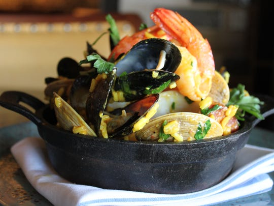 Seafood paella at The Office Tavern