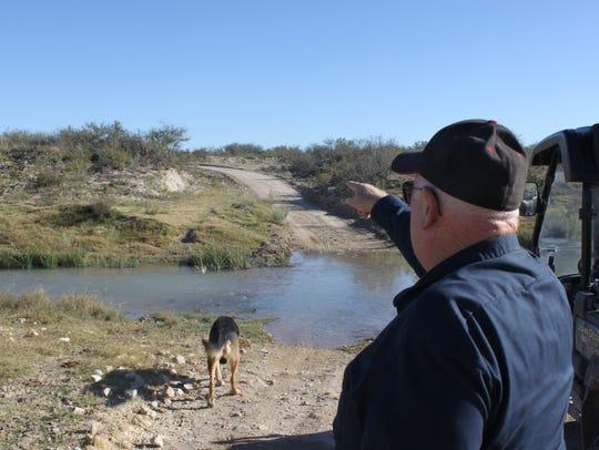 Landowner Jim Davis worries that if the Texas hornshell