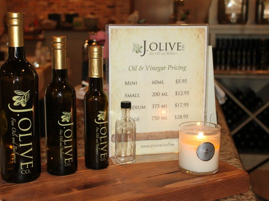 J. Olive's fragrant shops are filled with a variety of flavor-infused olive oils, balsamic and gourmet vinegars.