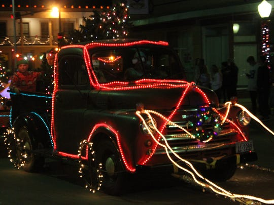 The annual Light Parade features floats designed by local residents, Nov. 25 on Halagueno Street.