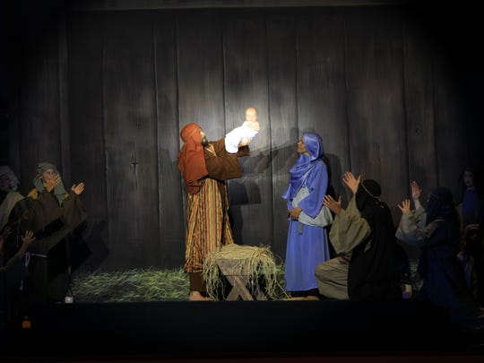 """""""Christmas in the Falls' at First Baptist Church will include a reenactment of the story of Christ's birth. Shows will be at 7 p.m. Dec. 9 and 10 at the church, 1200 Ninth St."""