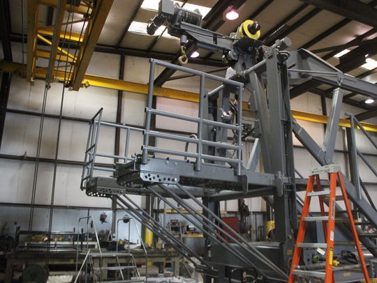 A thrust stand is used to restrain jet engines during