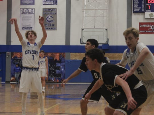 Sophomore point guard Josh Sillas aims for a free throw