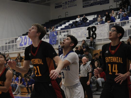 The Carlsbad Cavemen face off with the Centennial Hawks,