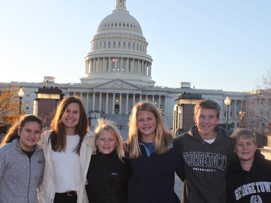 The Shelby family in Washington D.D.: Abbey and Amanda,