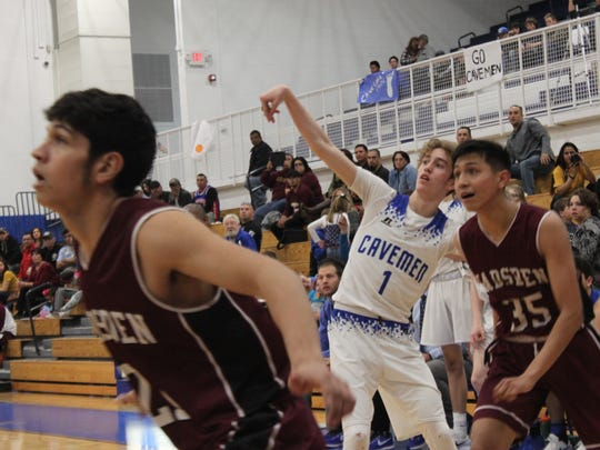 The Carlsbad Cavemen take on the Gadsden Panthers, Feb. 13 at the Carlsbad High School Gym.