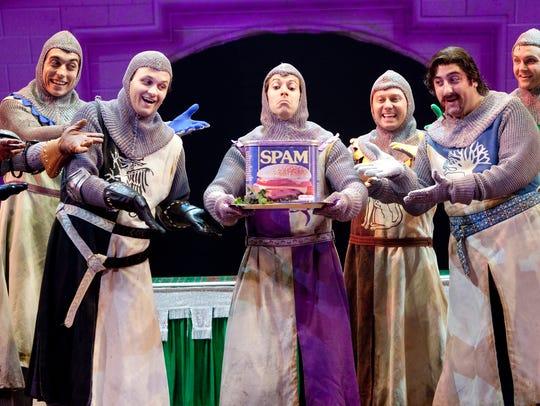 "The Broadway hit ""Monty Python's Spamalot"""