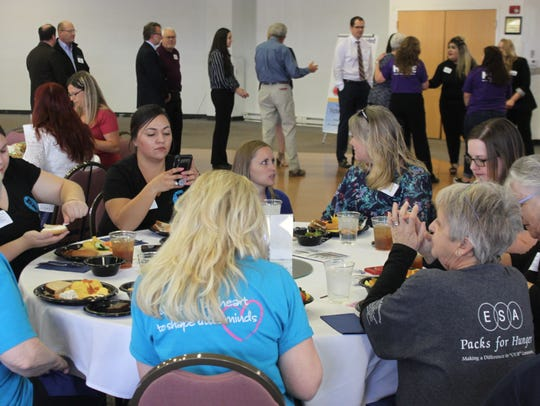 Carlsbad residents, volunteers and business mingle