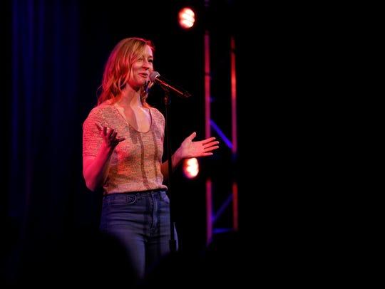 Elle Wignall tells her story Thursday, April 5, 2018,