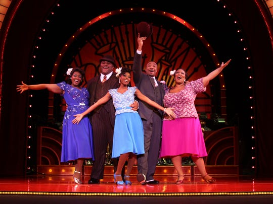 "Ruben Studdard starred in the 2008 tour of ""Ain't Misbehavin'."" The cast featured (from left); Patrice Covington, Studdard, Trenyce Cobbins, David Jennings and Frenchie Davis"