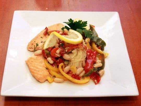 Lamberti's Tutti Toscani's Salmon. The restaurant is on Brace Road in Cherry Hill.