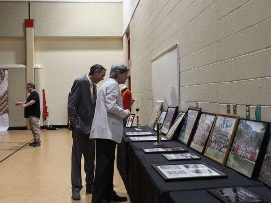 To celebrate its 50th anniversary, Raymond Cree Middle School's band put on display memorabilia from the past decades.