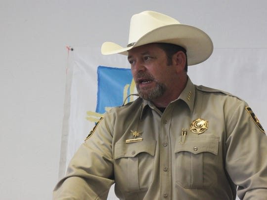 Eddy County Sheriff Mark Cage was elected president-elect