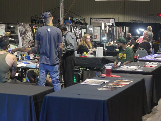Tattoo artists and customers from across the county and New Mexico attend Colours Couture's tattoo show, June 1, 2018 at the Walter Gerrells Performing Arts Center in Carlsbad.