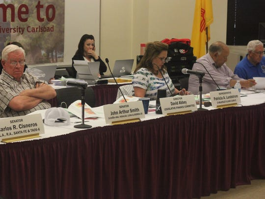 Members of the Legislative Finance Committee listen to presentations from local agencies, June 5, 2018 at New Mexico State University Carlsbad.