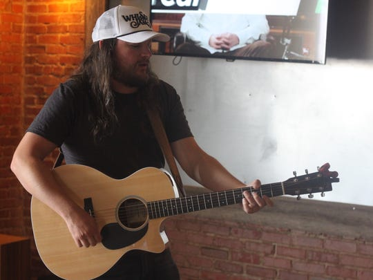 Nashville-based country singer Adam Wakefield performs