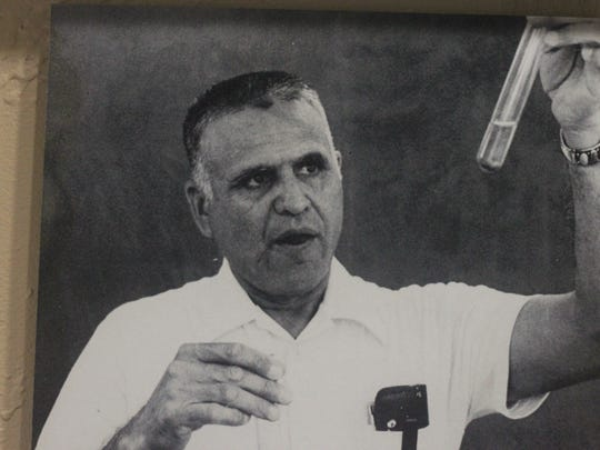 "Porfirio ""Porky"" Leyva was known as a biology professor for decades. He was inducted into the Carlsbad Hall of Fame, July 6, 2018 at the Carlsbad Museum and Art Center."