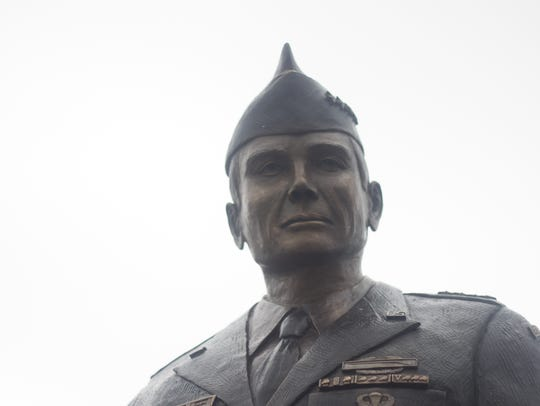 A statue sporting the likeness of Fred Mahaffey is