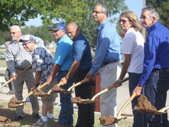 City officials and Potash industry leaders break ground
