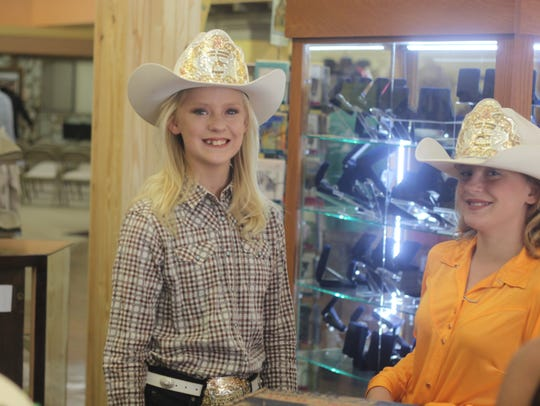Rodeo princesses from the Eddy County Sheriff's Posse