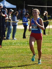 Pearl River's Mary Borkoski heads for the finish line