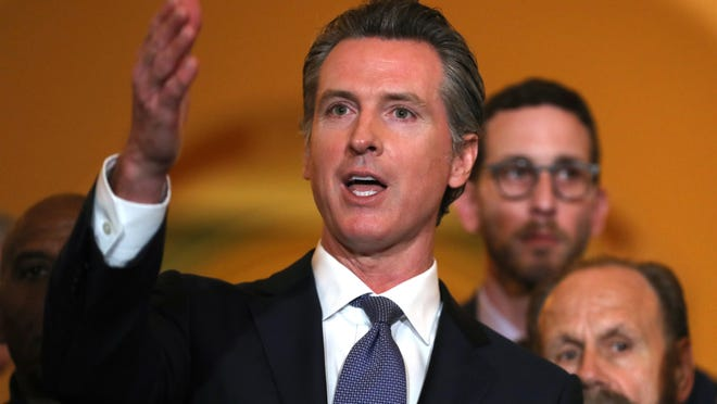 Gov. Gavin Newsom, while campaigning for his new job, said he supported a ban on fracking.