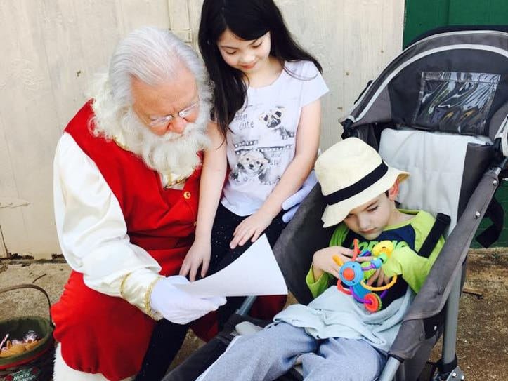 Hope an Brody got a special visit from Santa Claus.